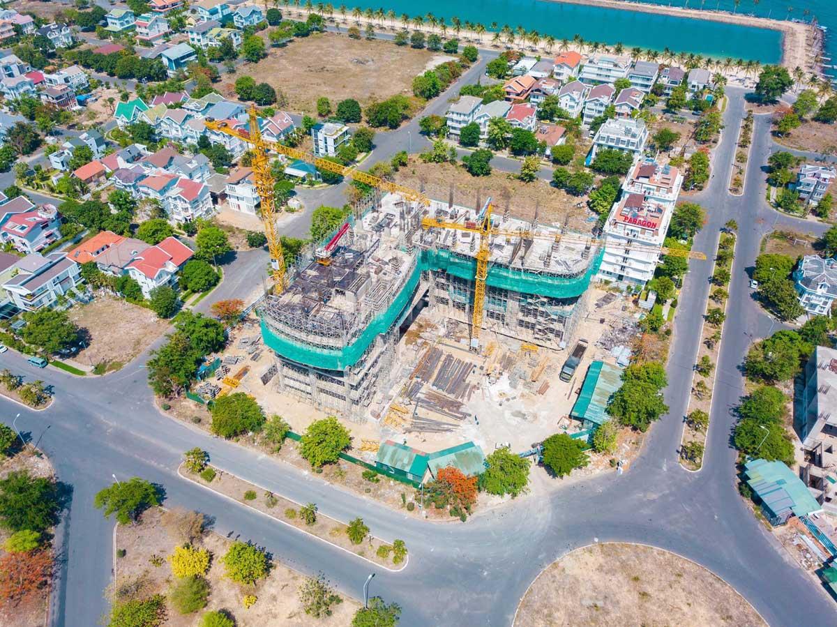Hình ảnh tiến độ thi công thực tế tại Dự án Căn hộ Peninsula Nha Trang