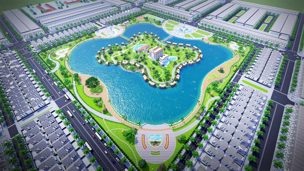 Hồ điều hòa trung tâm Dự án Khu Đô Thị Cà Mau New City