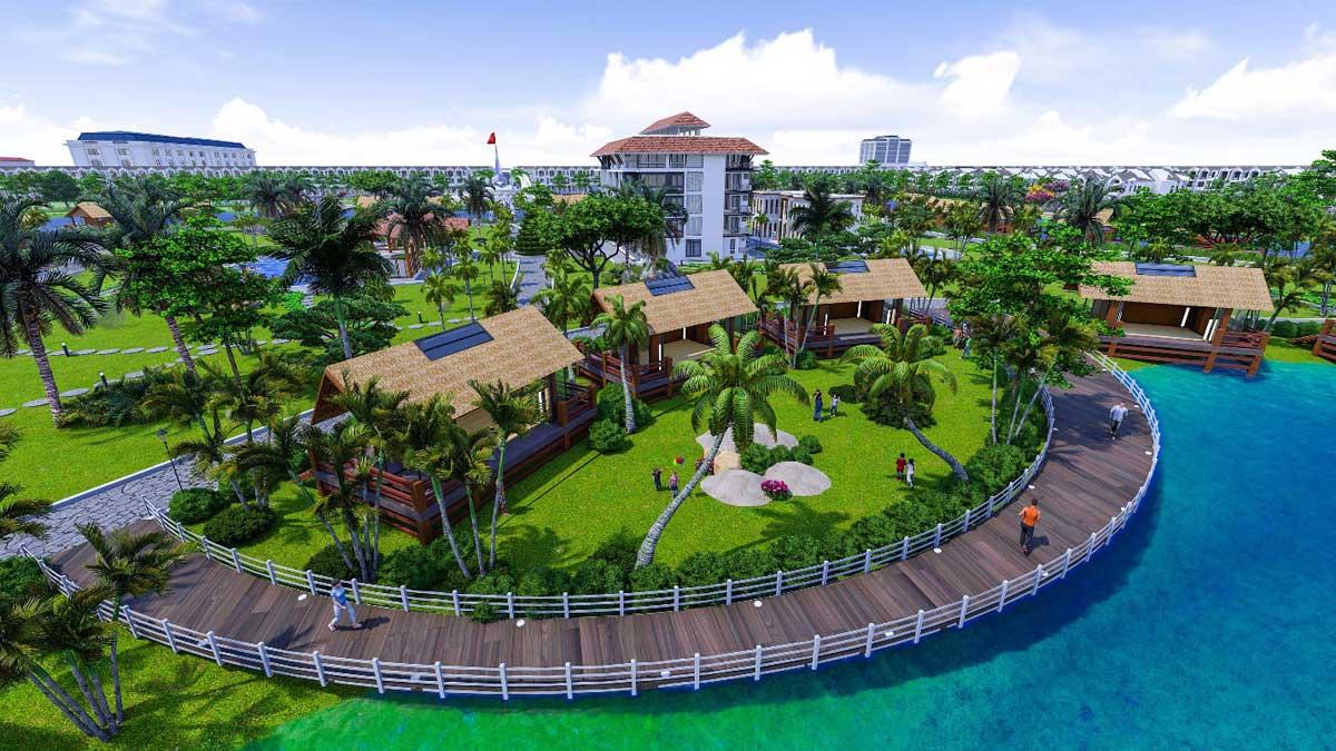 Khu công viên ven hồ tại Dự án Cà Mau New City