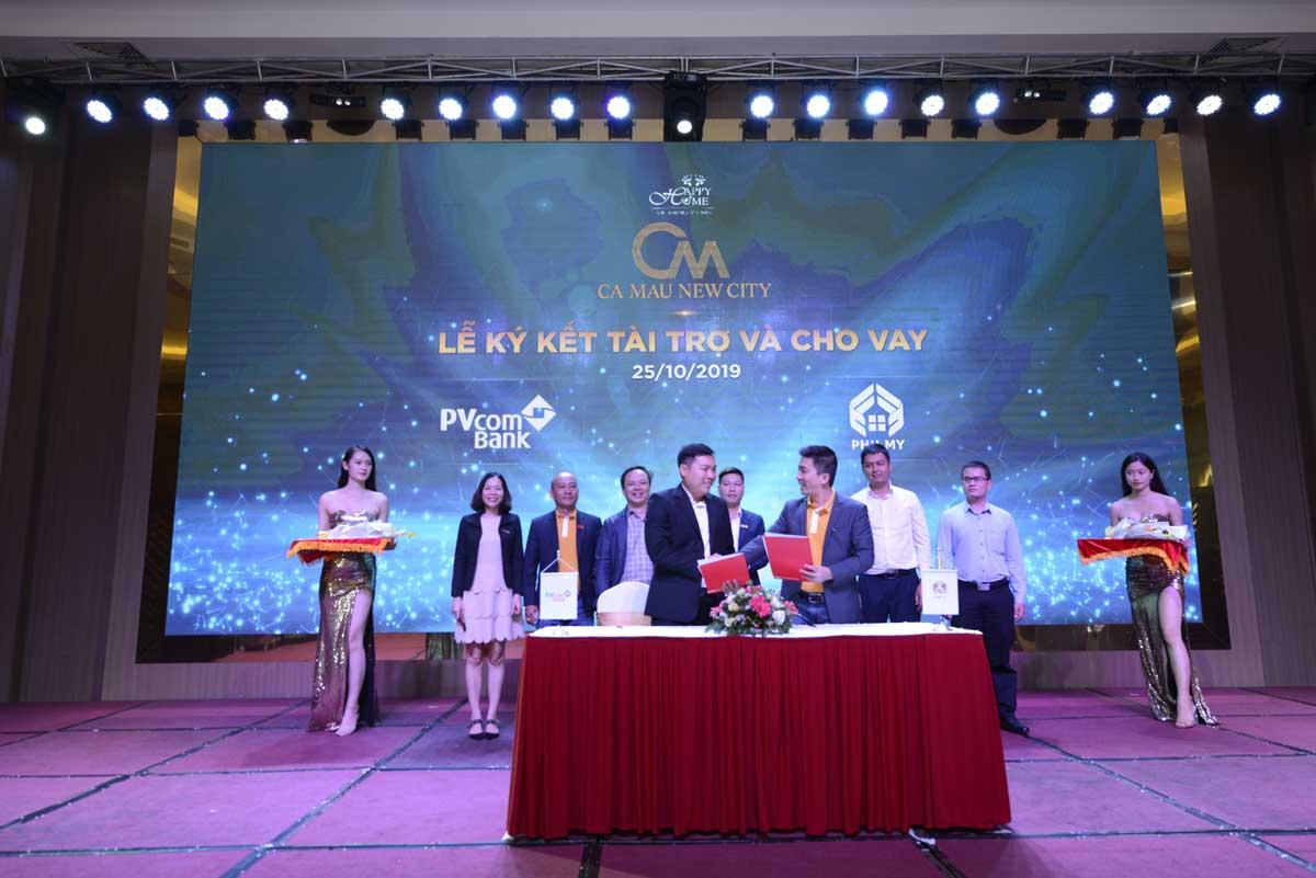 Lễ ký kết hỗ trợ cho vay Dự án Khu đô thị Cà Mau New City