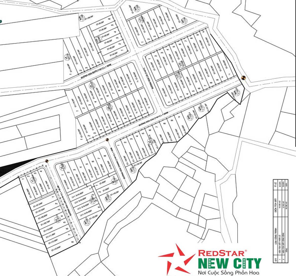 Mặt bằng Dự án Redstar New City Bà Rịa Vũng Tàu