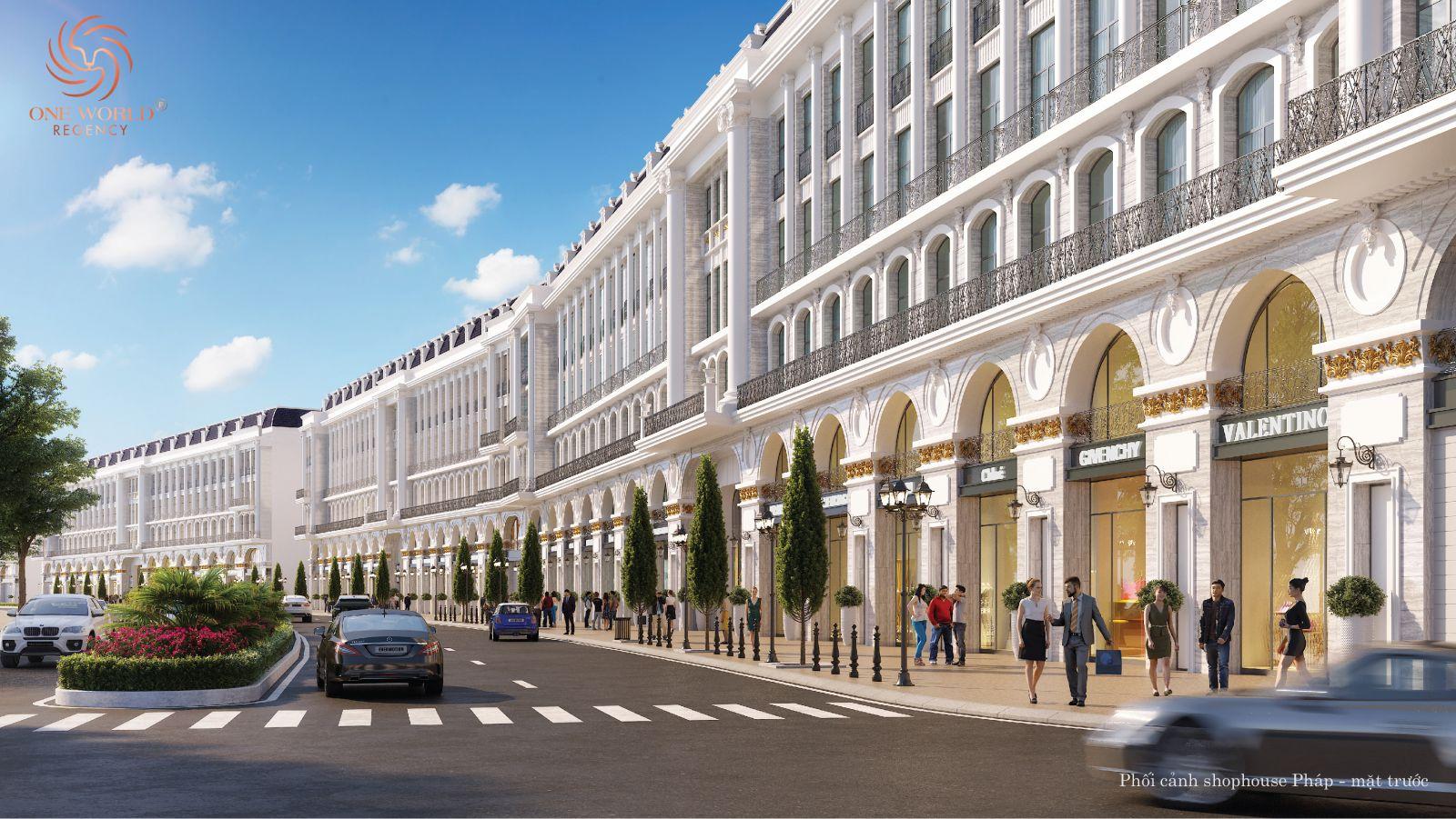 Thiết kế kiến trúc dự ánOne World Regency