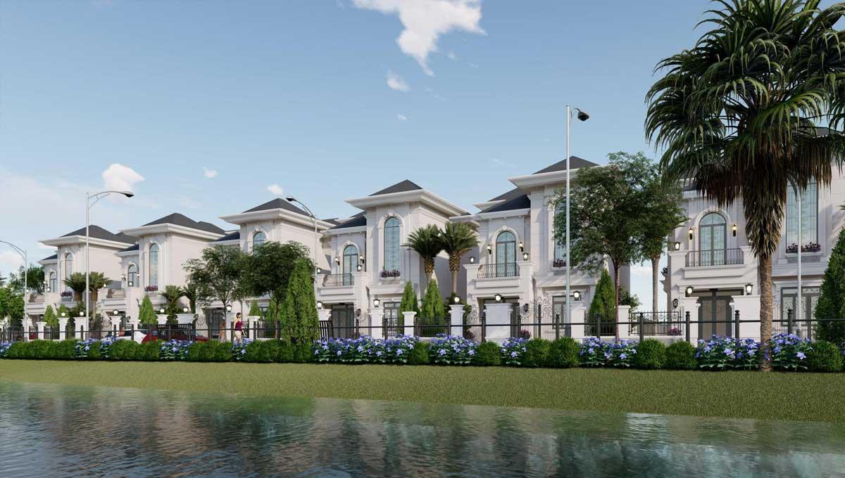 Khu Biệt thự View Hồ tại Dự án Cà Mau New City