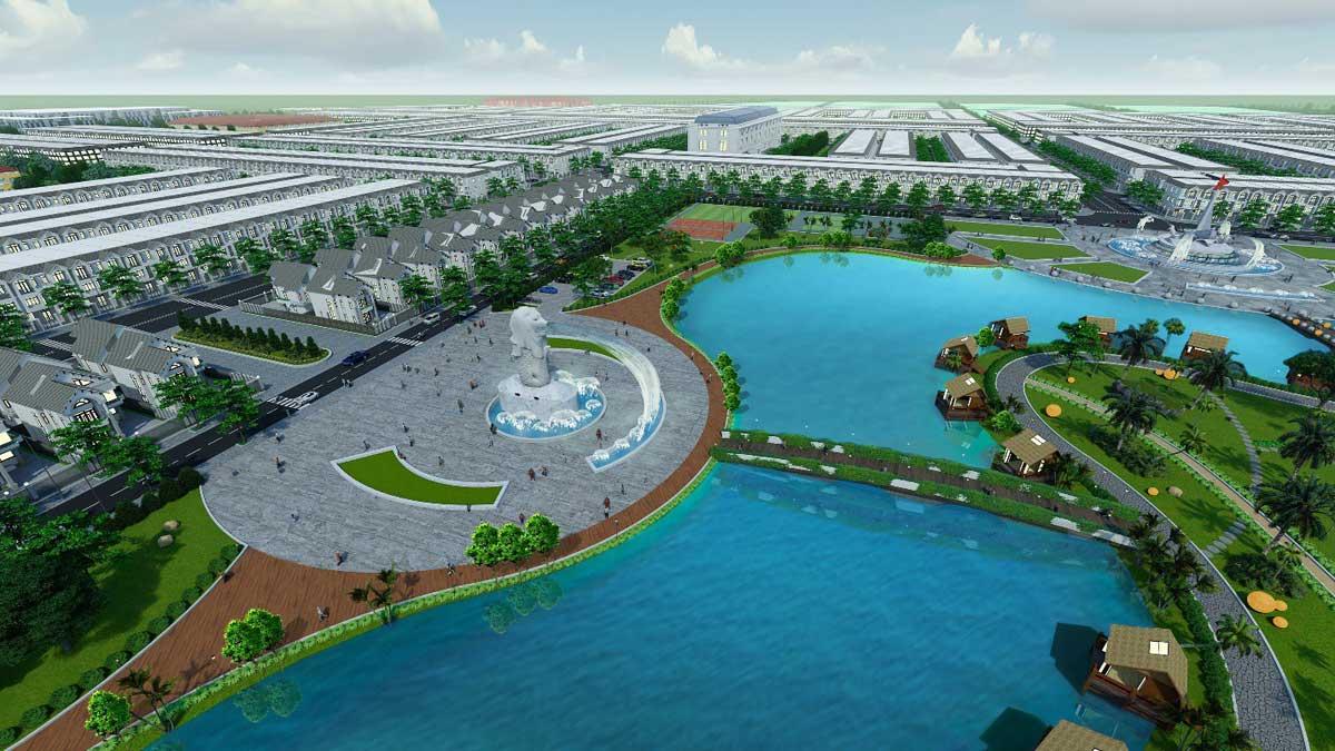 Quảng trường Singapore độc đáo ven hồ điều hòa rộng 12 ha của Cà Mau New City
