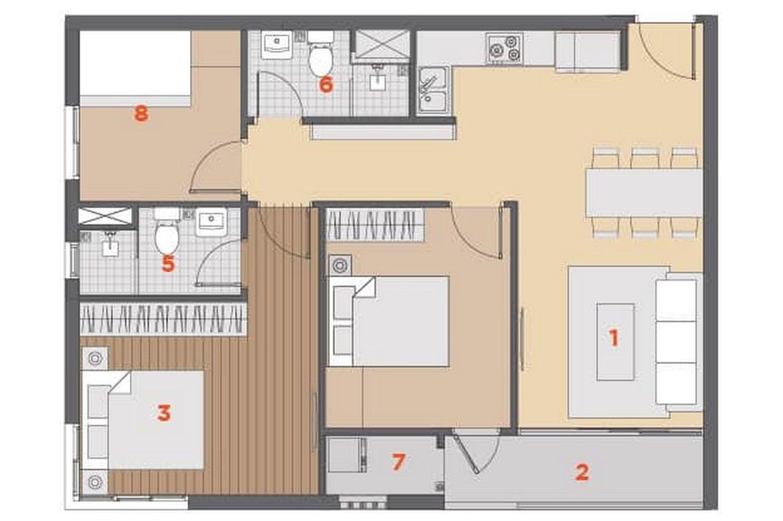 Thiết kế căn hộ chung cư HausNima Q9