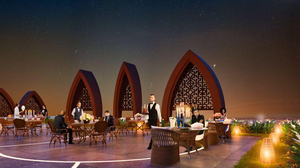 nhà hàng sang trọng Dự án Căn hộ Apec Mandala Grand