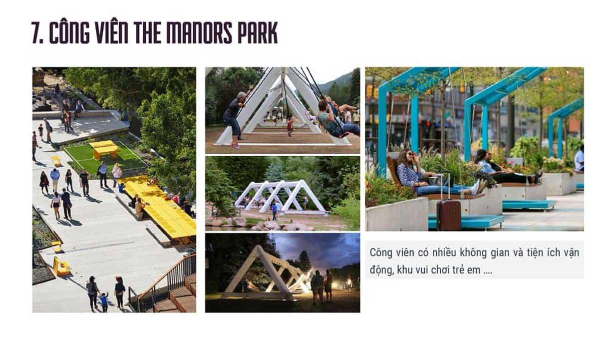 Tiện ích Công viên Crystal Park