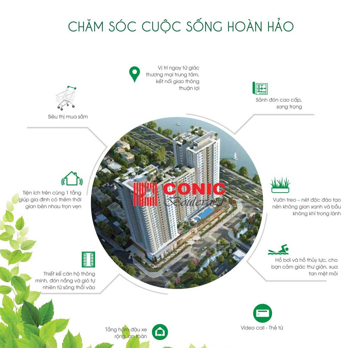 Tiện ích nội khu Dự án Căn hộ Chung cư Conic Boulevard Quận 6