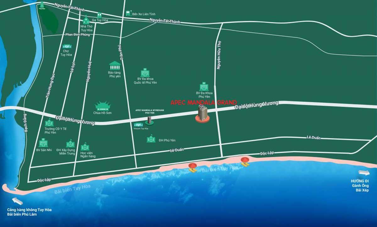 Vị trí Dự án Căn hộ Apec Mandala Grand Phú Yên