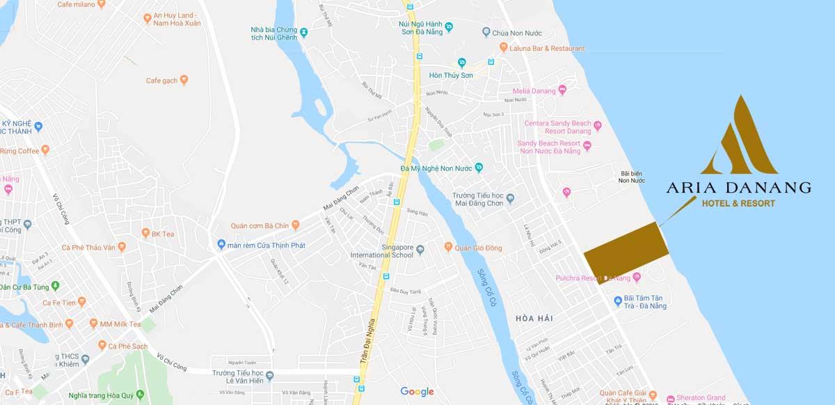 Vị trí Dự án Biệt thự Căn hộ Condotel Aria Đà Nẵng