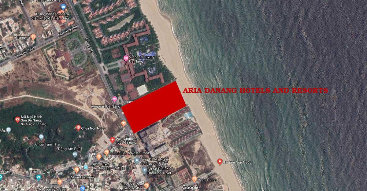 Vị trí Dự án Căn hộ Condotel Aria DaNang Hotels And Resorts