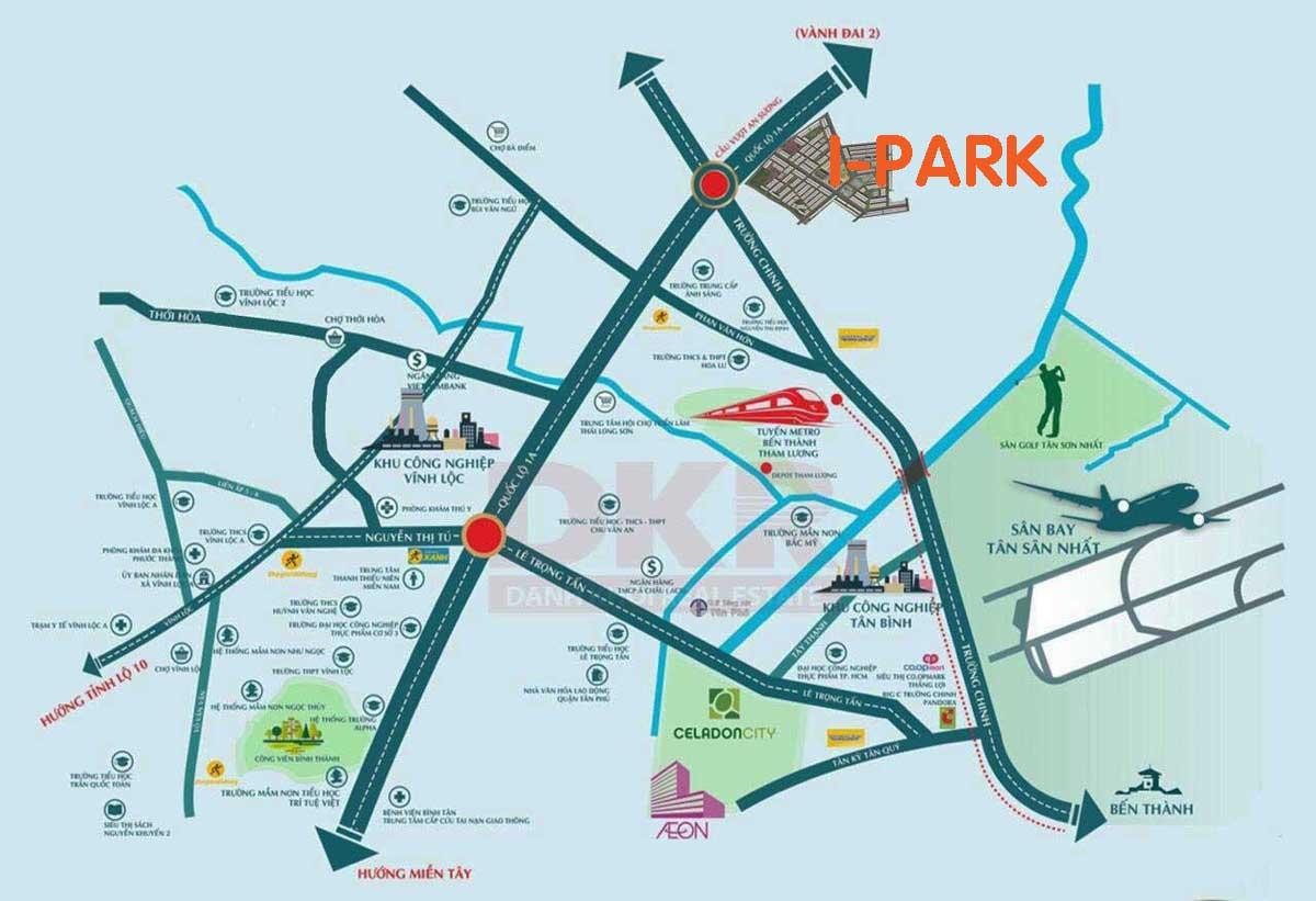 Vị trí Dự án Căn hộ I-Park An Sương