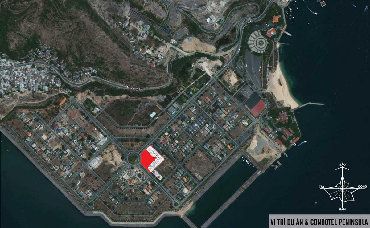 Vị trí Dự án Căn hộ Condotel Peninsula Nha Trang