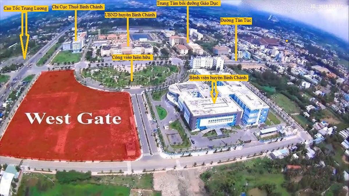 Vị trí thực tế Dự án Căn hộ West Gate Bình Chánh