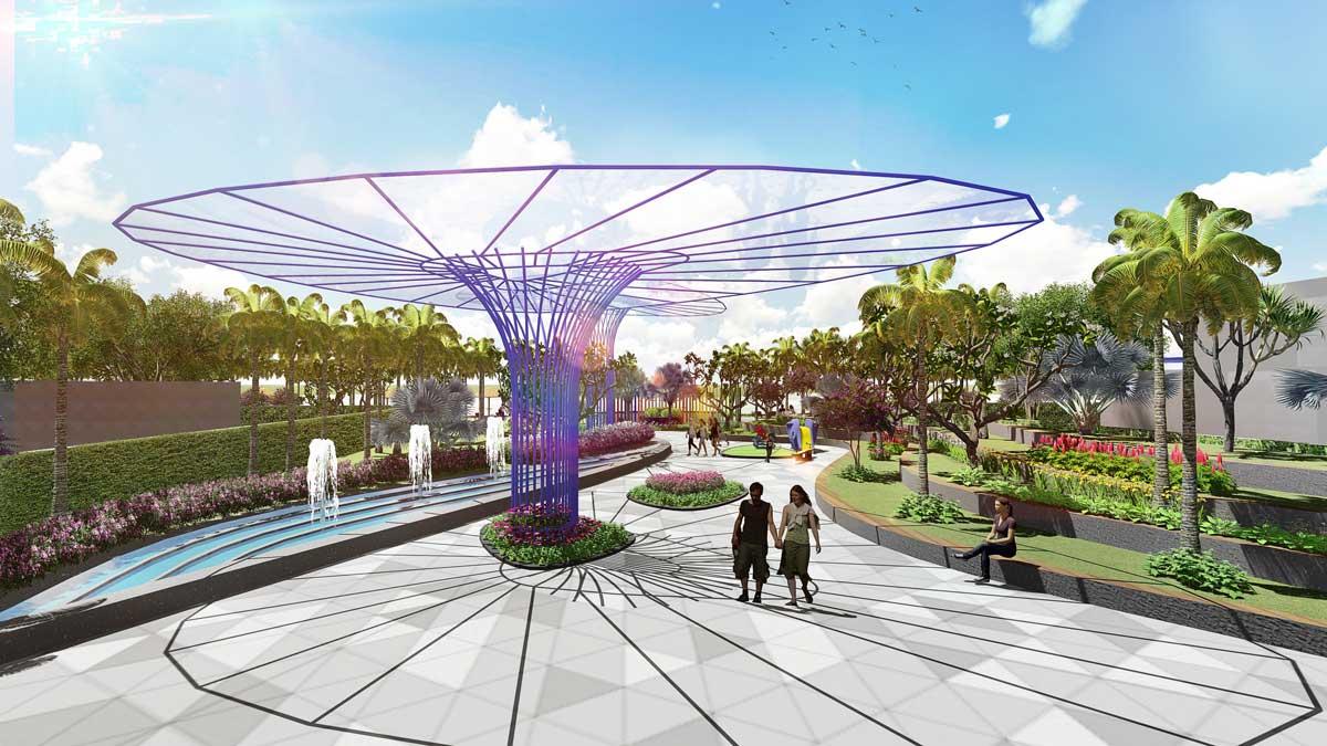 Công viên Garden By The Bay Dự án Aria Vũng Tàu