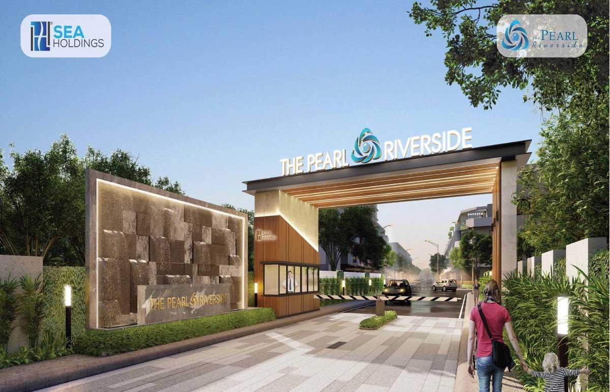 Cổng chào Dự án The Pearl Riverside