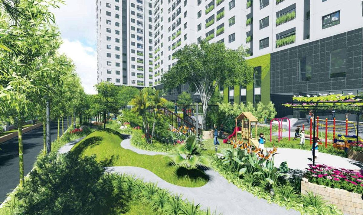 Công viên Dự án Căn hộ Chung cư Phúc Yên Prosper Phố Tây Thới An Quận 12