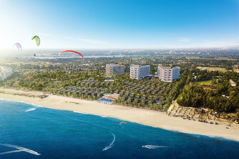 phối cảnh Toàn dự án Shantira Beach Resort and Spa Hội An