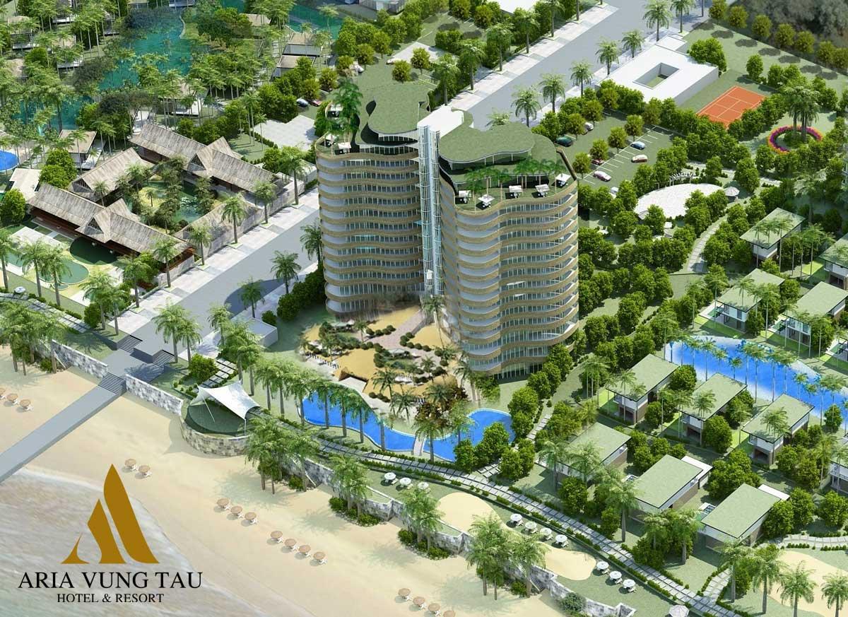 Phối cảnh Dự án Căn hộ Condotel Aria Vũng Tàu Hotel & Resort
