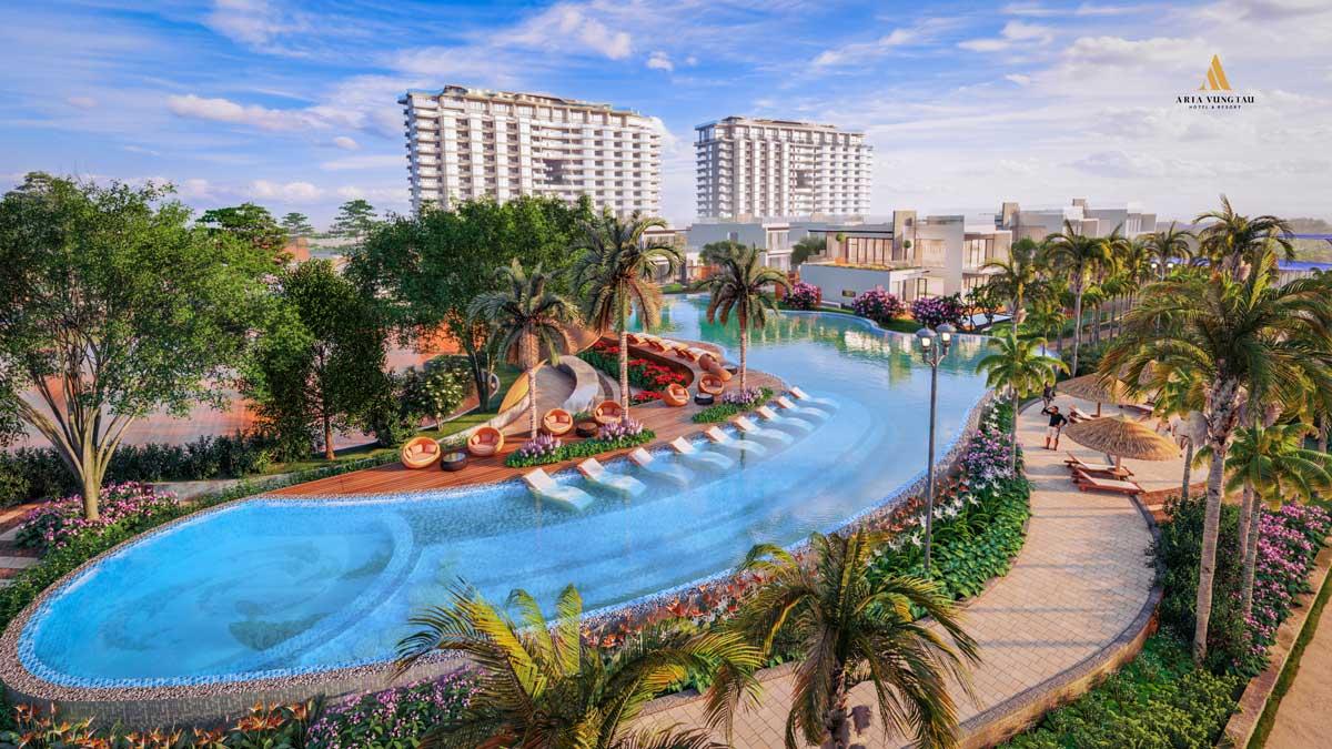 Hồ bơi trung tâm Dự án Aria Vũng Tàu