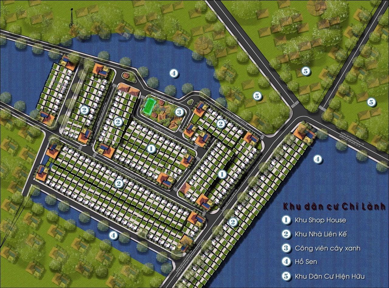 mặt bằng thiết kế khu dân cư chí lành Thành hải
