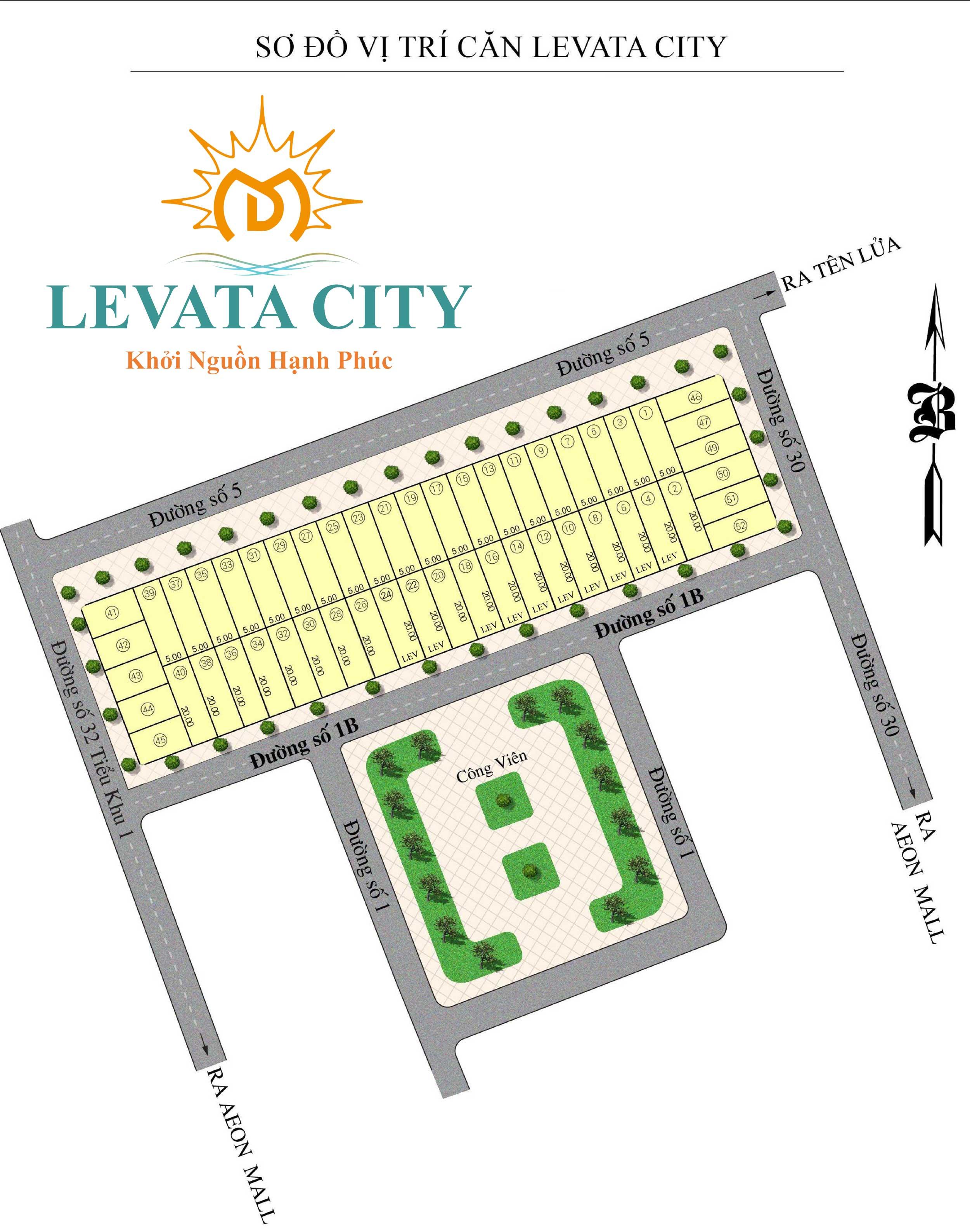 Mặt bằng Phân lô Nhà Phố Levata City Bình Tân