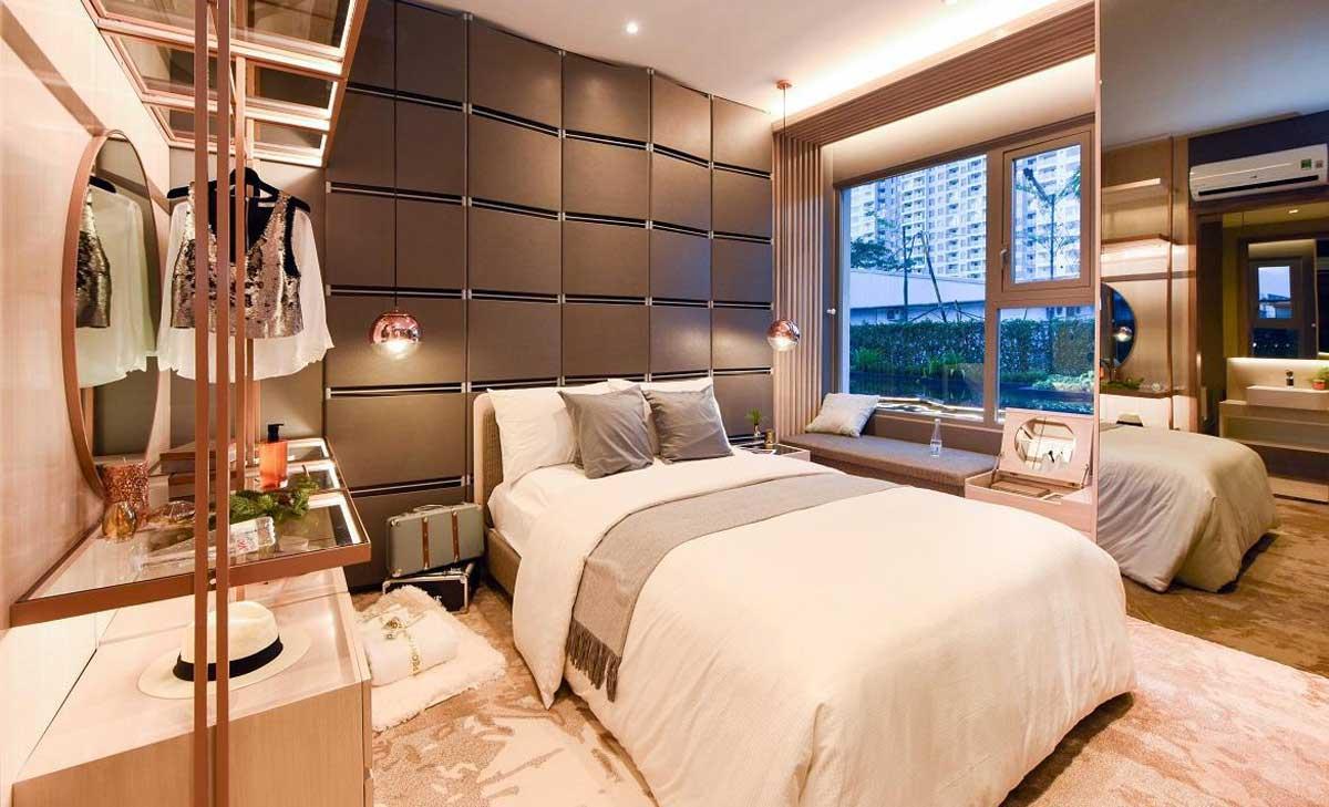 Phòng ngủ lớn căn hộ D'Lusso Quận 2