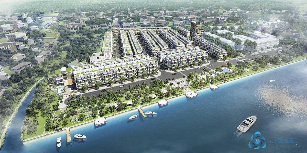 Phối cảnh Dự án Nhà Phố – Biệt thự The Pearl Riverside Bến Lức Long An