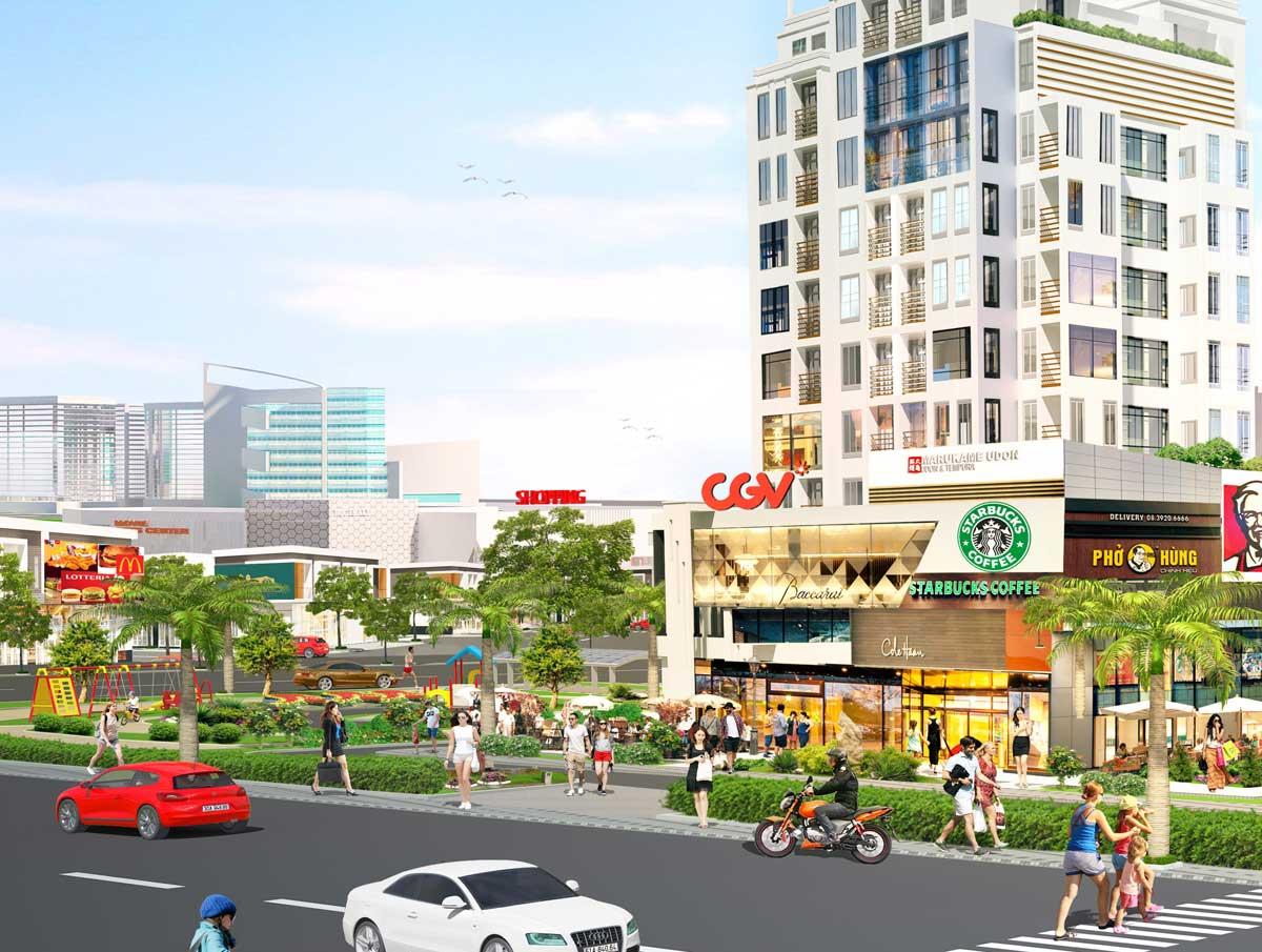Tiện ích trung tâm thương mại Dự án The Eden City Bình Dương