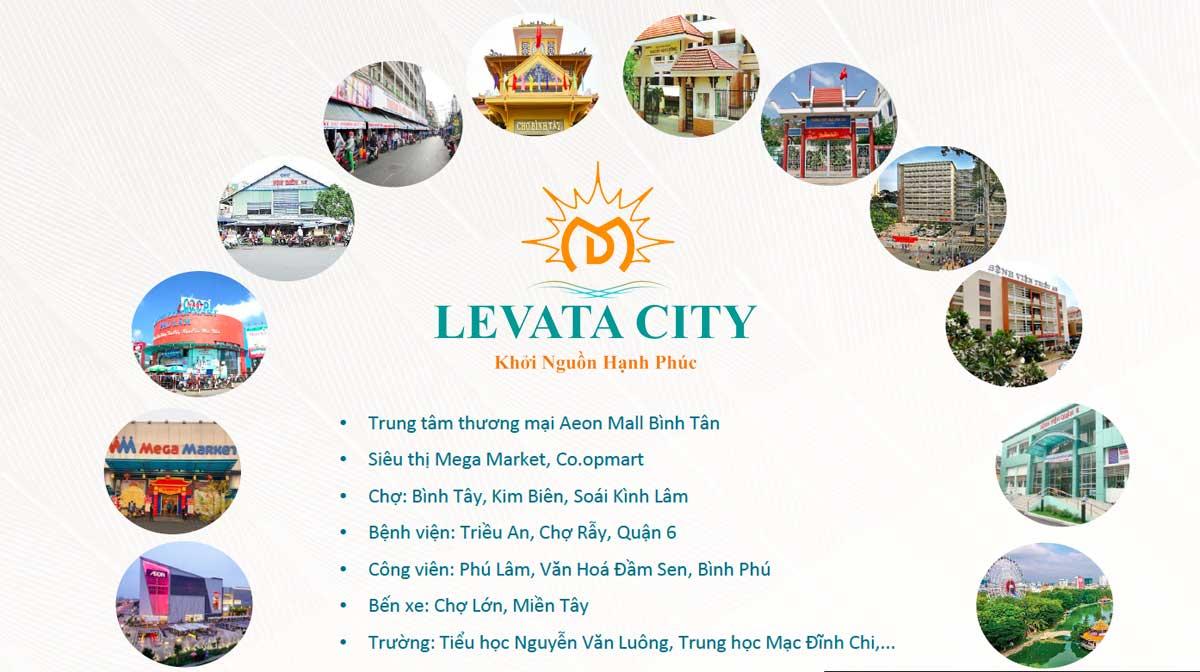 Tiện ích ngoại khu Nhà Phố Levata City Bình Tân