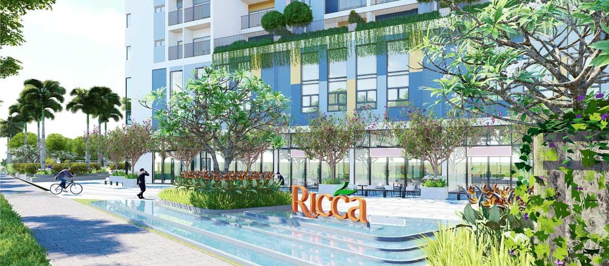 Khu trung tâm thương mại Dự án Căn hộ The Ricca Quận 9