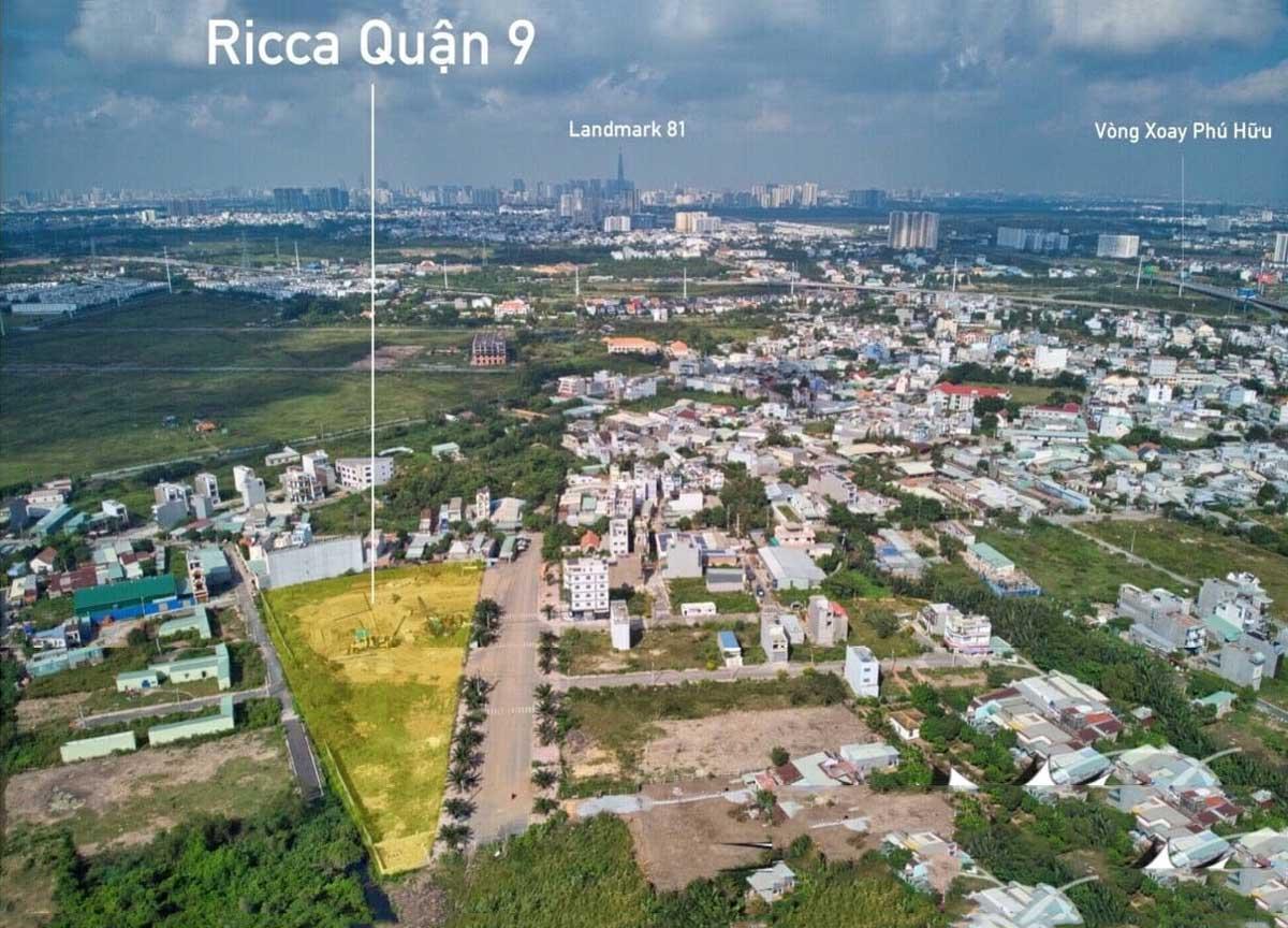 Vị trí lô đất Dự án Căn hộ Chung cư Ricca Quận 9