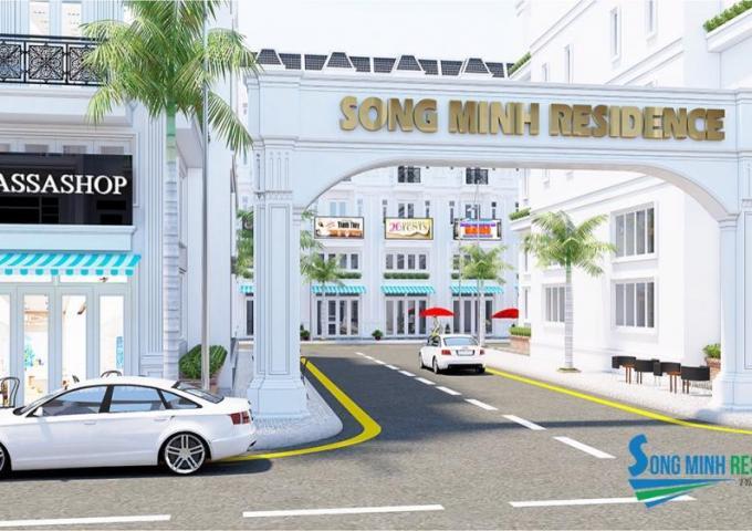 cổng chào dự án nhà phố song minh residence Quận 12
