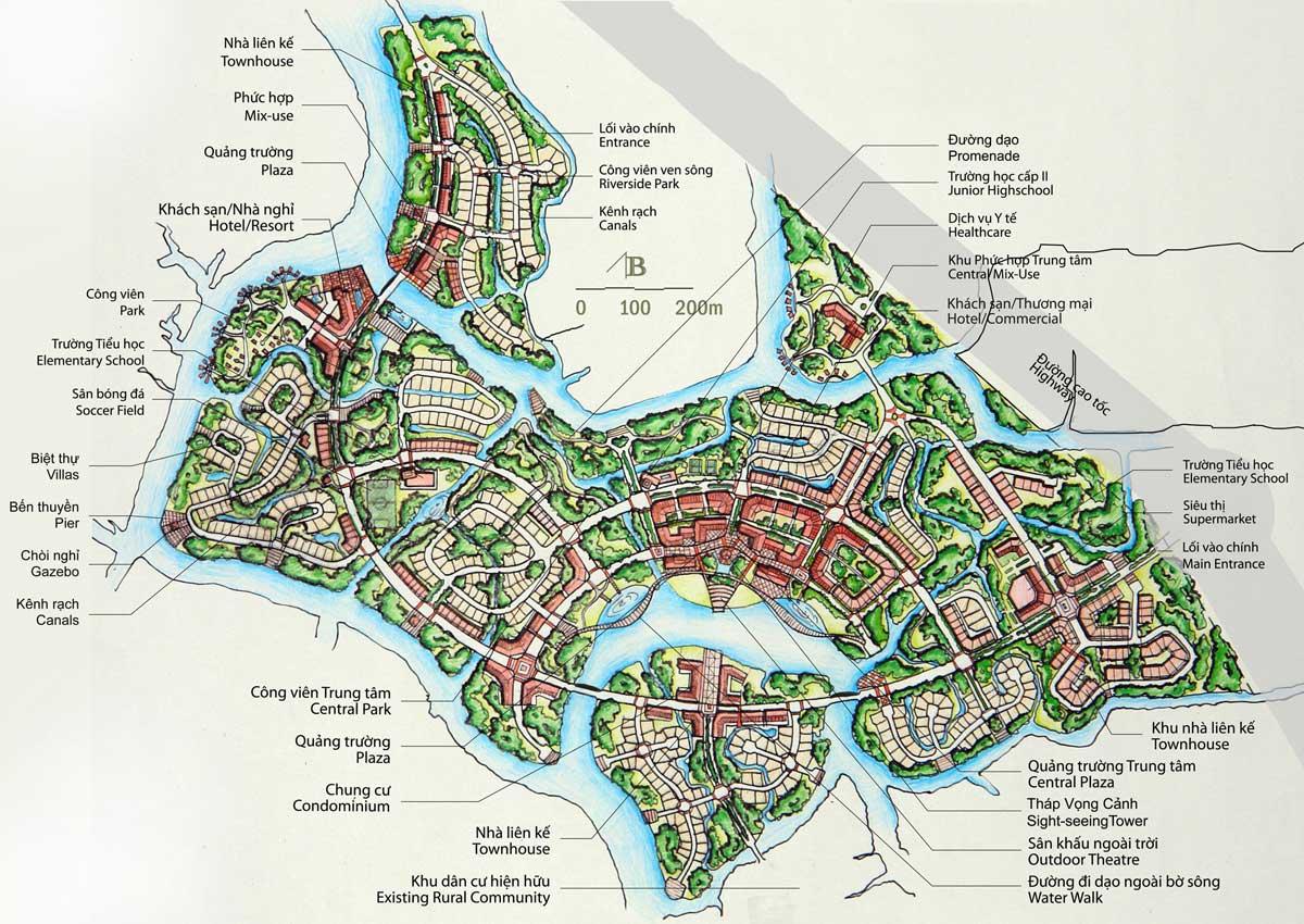 Mặt bằng thiết kế tổng thể khu phước hợp Vinhomes Nhơn Trạch - Đồng Nai