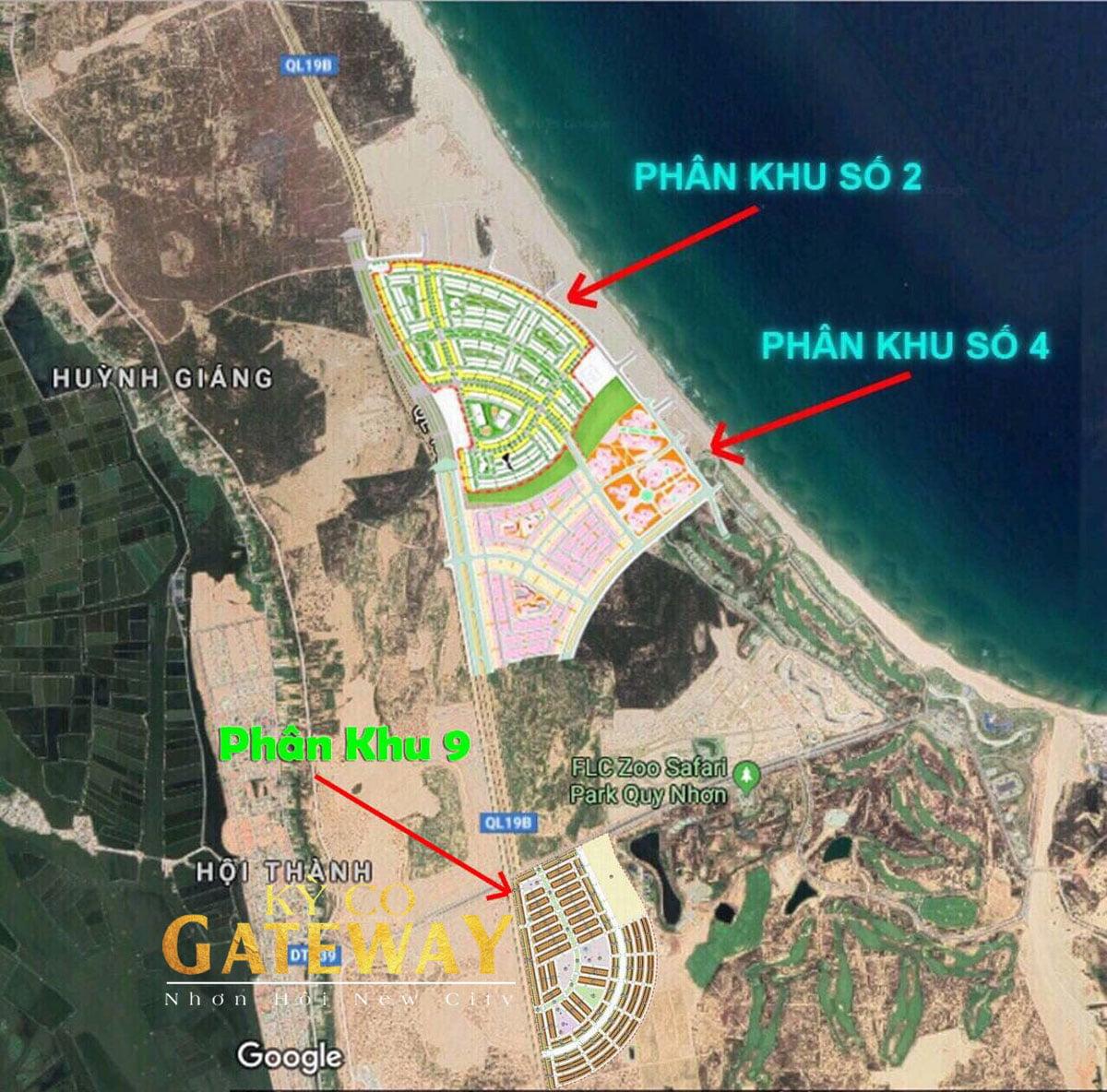 Vị trí dự án Kỳ Co Gateway Quy Nhơn