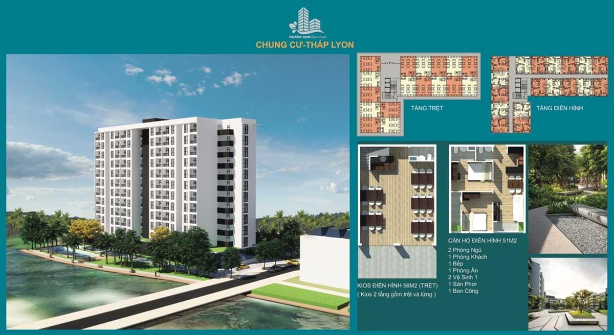Tháp Lyon Căn hộ Chung cư Phương Nam River Park