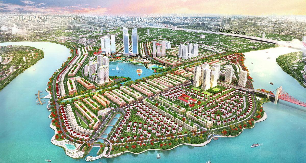 Phối cảnh Toàn khu Dự án Khu đô thị Vạn Phúc City Thủ Đức