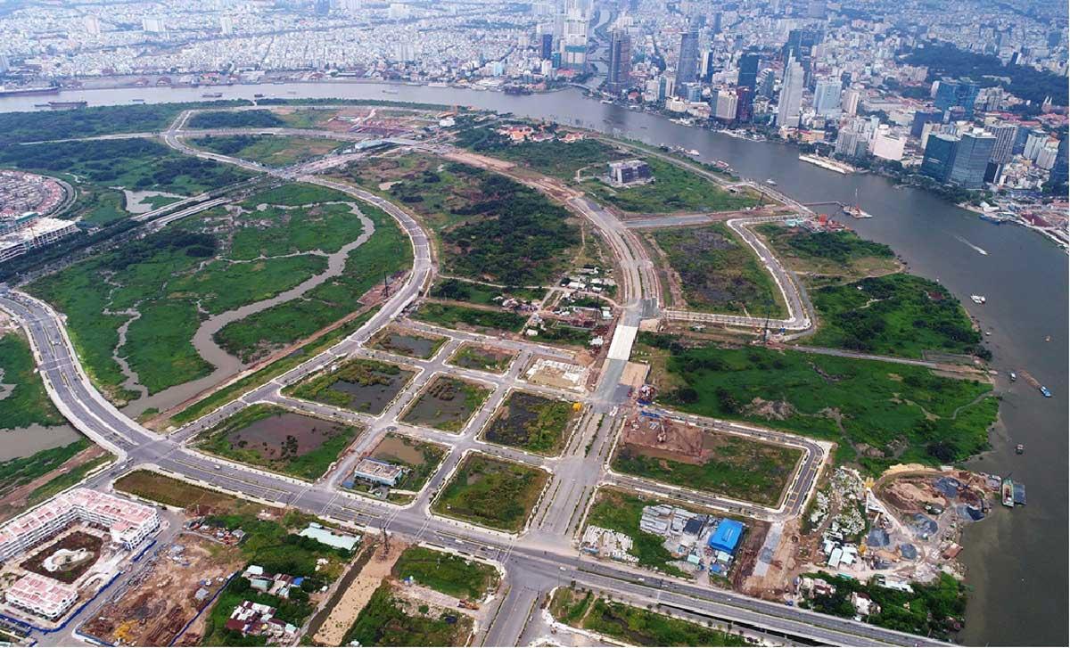 Hình ảnh thực tế lô đất Dự án The River Thủ Thiêm Quận 2