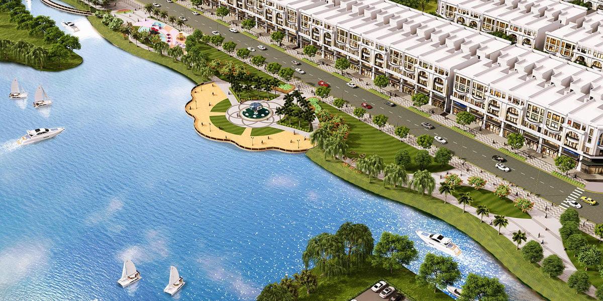 Kênh sông Trăng tại Dự án Biệt thự Mansion Vạn Phúc Thủ Đức
