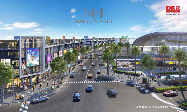 khu phố mua sắm của dự án kỳ co quy nhơn