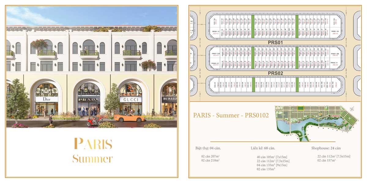 Phân khu The Paris – Summer – Dãy 01 và 02