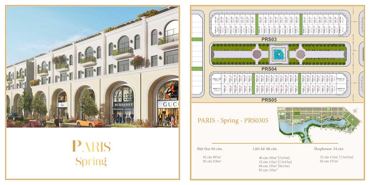 Phân khu The Paris – Spring – Dãy 03 đến 05