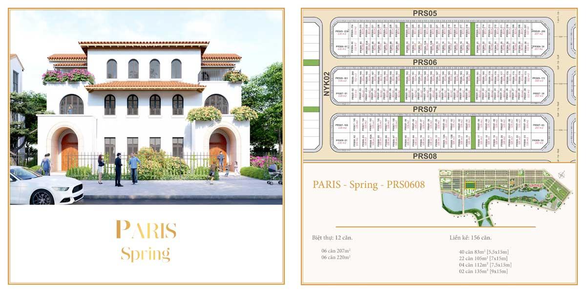 Phân khu The Paris – Spring – Dãy 06 đến 08