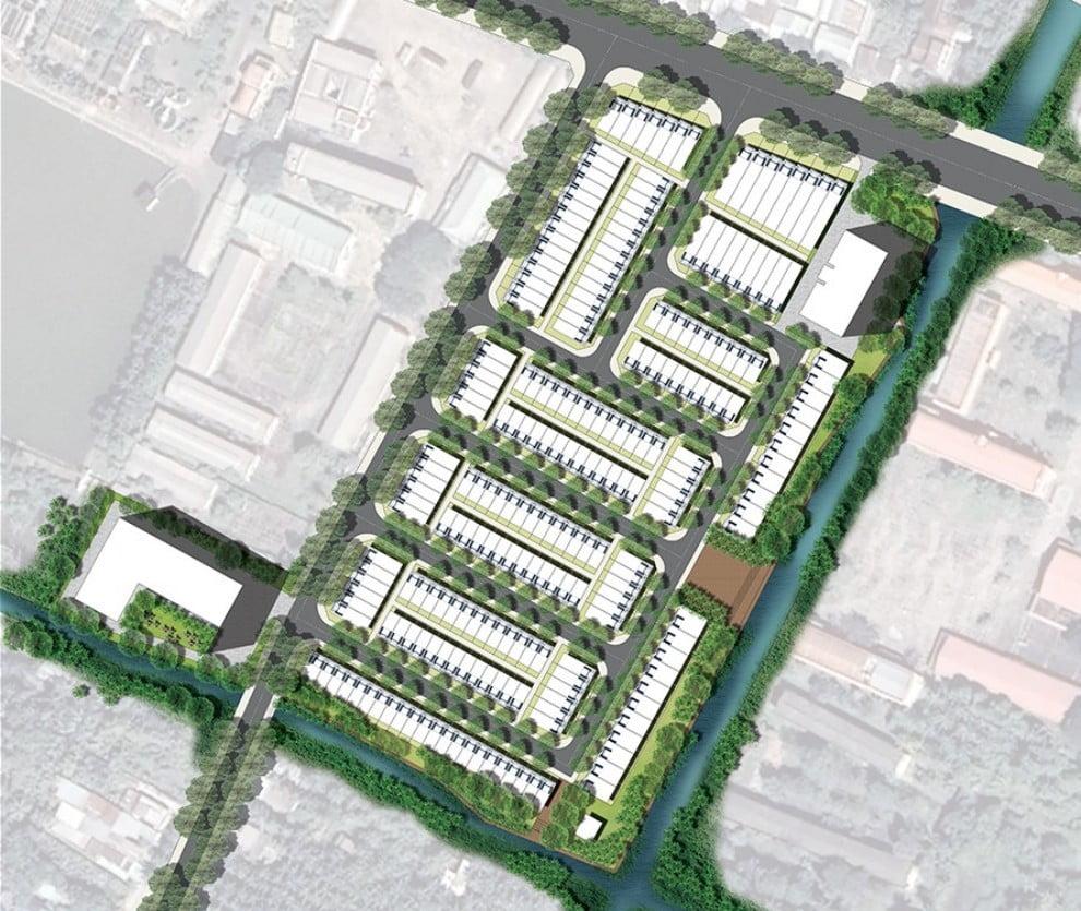 Mặt bằng phân lô dự án khu đô thị Phương Nam River Park Bến Tre