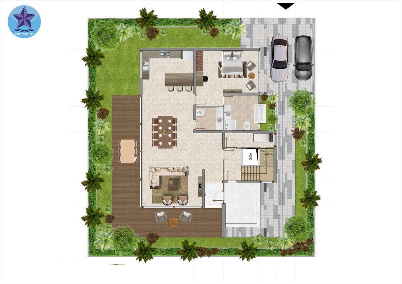 Thiết kế tổng quan căn biệt thự khu 1A dự án Condotel The Maris Vũng Tàu