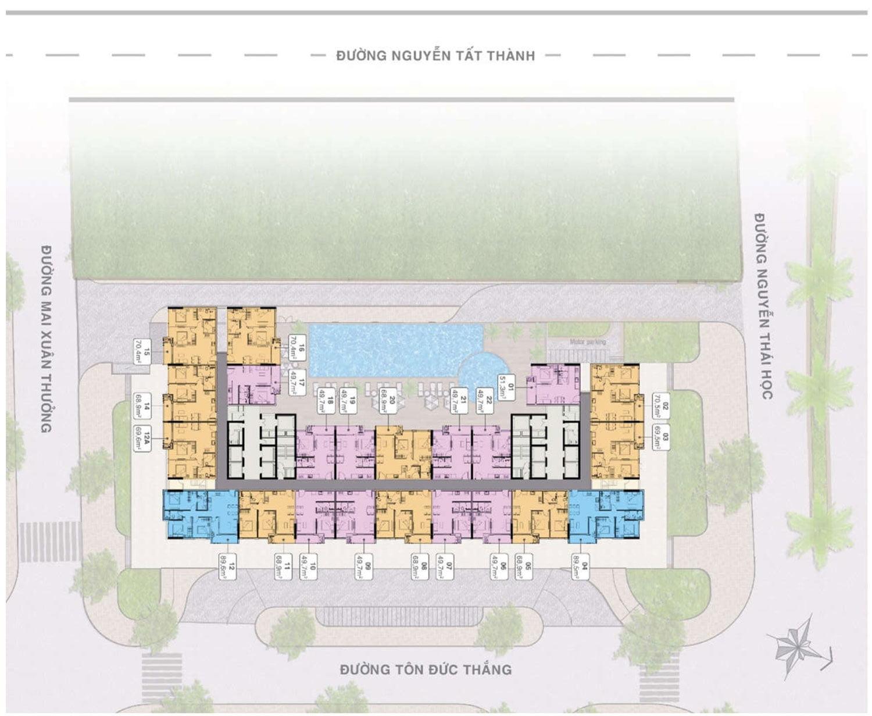 Mặt bằng Tầng 6-16, 18-29,31-42 Dự án Căn hộ Grand Center Quy Nhơn