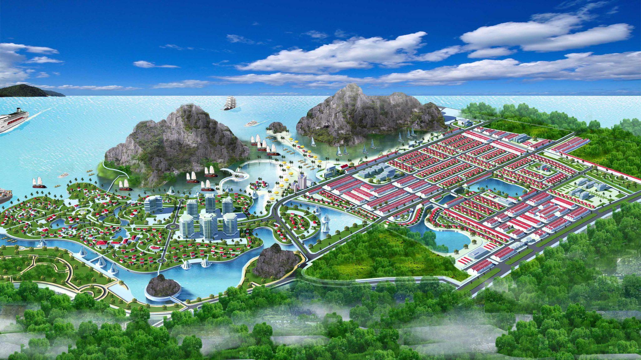 Phối cảnh dự án Sentosa Bay Cẩm Phả Quảng Ninh