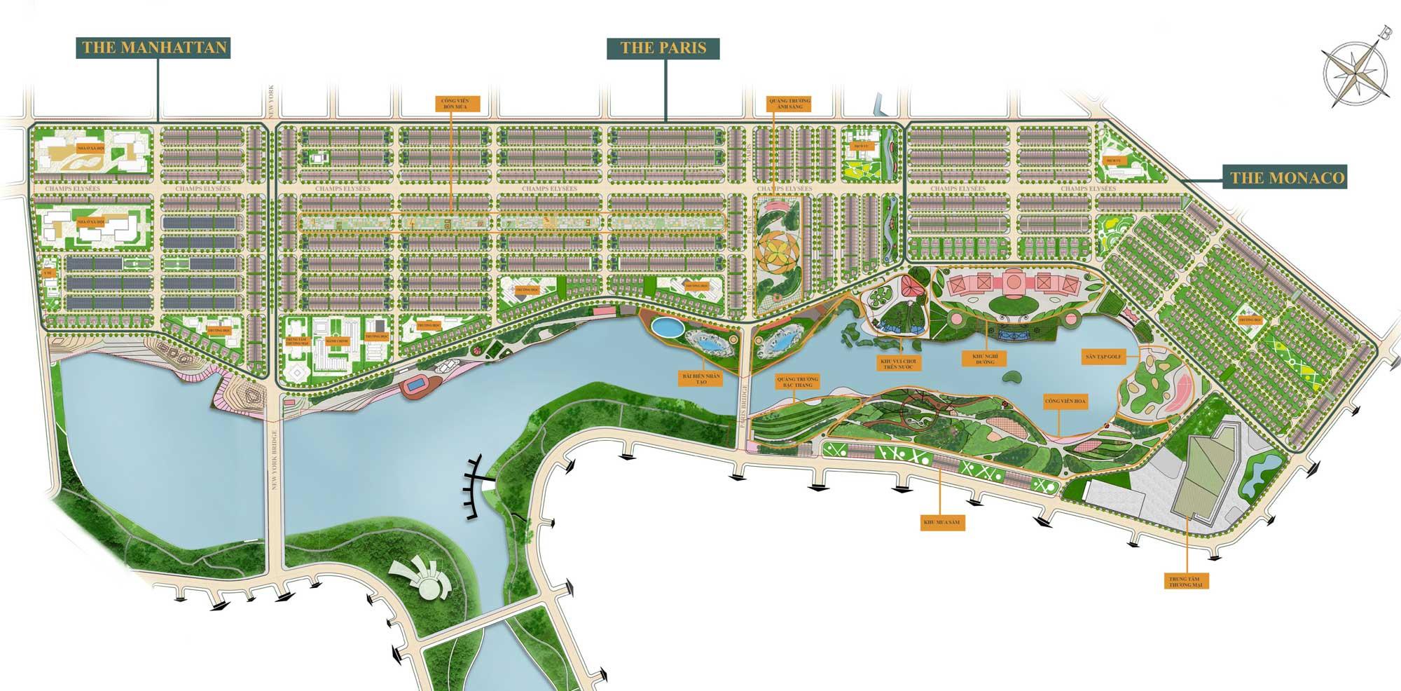 Mặt bằng Tổng thể Dự án Royal Star Lake Đồng Xoài Bình Phước