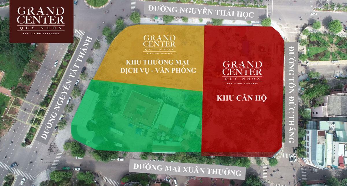 Các Phân khu Dự án Grand Center Quy Nhơn Bình Định