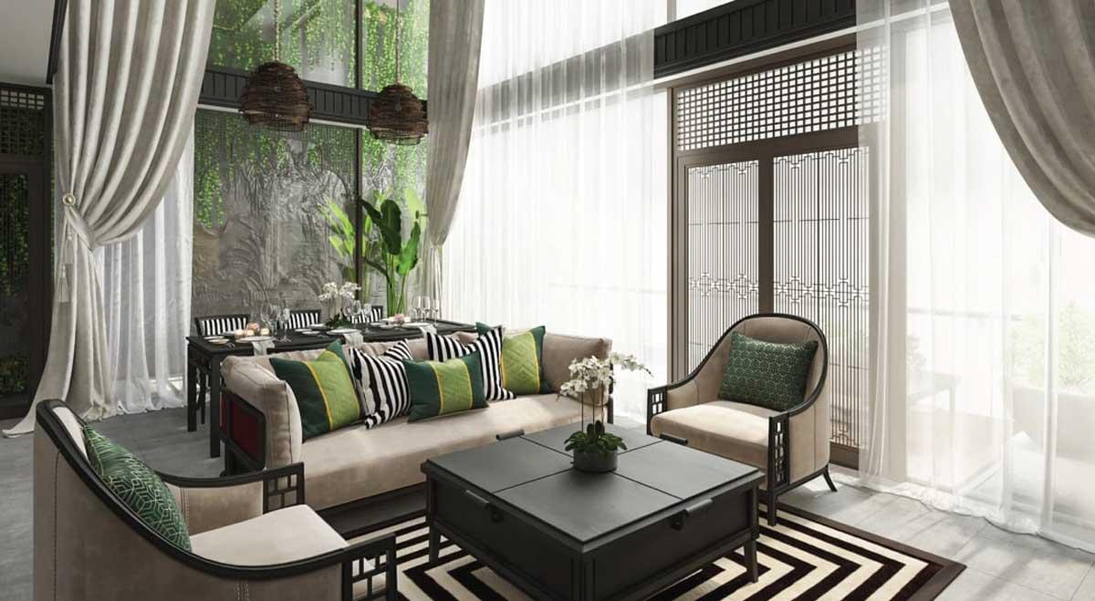 Phòng khách Căn hộ Sunshine Continenal Thành Thái Quận 10